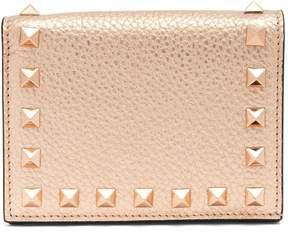 Valentino Rockstud bi-fold leather wallet
