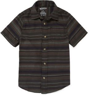 Arizona Short Sleeve Button-Front Woven Boys