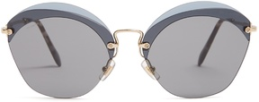 Miu Miu Cat-eye frame metal sunglasses