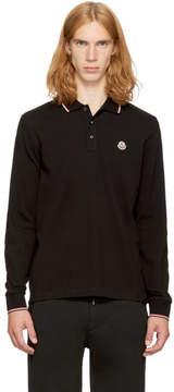 Moncler Black Long Sleeve Maglia Polo