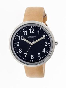 Simplify The 2600 Collection SIM2607 Unisex Watch with Leather Strap