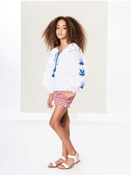 Oscar de la Renta Kids Kids | Gingham Cotton Shorts | 14 years