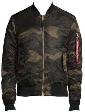 Alpha Industries Camouflage Reversible Bomber Jacket