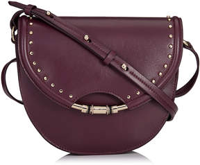 Jimmy Choo CHRISSY Grape Nappa Leather Cross Body Bag