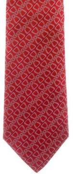 Hermes Patterned Silk Tie