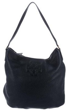 Tory Burch Pebbled Leather Thea Hobo - BLUE - STYLE