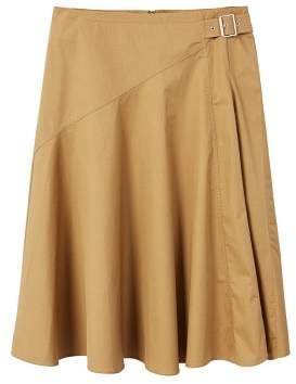Violeta BY MANGO Buckle cotton skirt