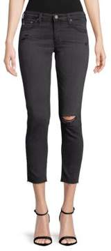 AG Adriano Goldschmied Distressed Crop Jeans
