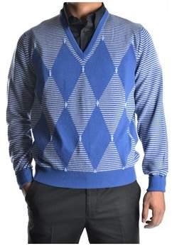 Ballantyne Men's Blue Cashmere Sweater.