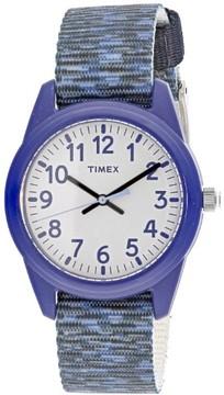 Timex Boy's TW7C12000 Blue Cloth Quartz Fashion Watch