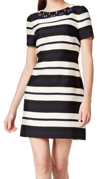 Vince Camuto Women's Short Sleeve Striped Dress