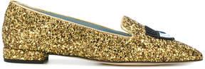 Chiara Ferragni glitter encrusted loafers