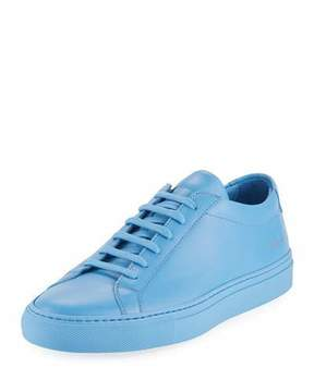 Common Projects Men's Achilles Leather Low-Top Sneakers, Blue
