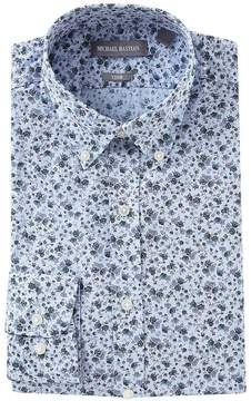 Michael Bastian Trim Fit Button-Down Collar Floral Dress Shirt