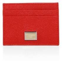 Dolce & Gabbana Saffiano Leather Card Case - RED - STYLE