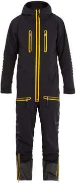 Bogner Brisk tri-colour hooded ski jumpsuit