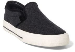 Ralph Lauren Vaughn Flannel Slip-On Sneaker Charcoal 11 D
