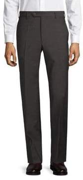 Zanella Devon Box Check Wool Trousers