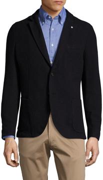 Gant Men's Loden Wool Notch Lapel Blazer