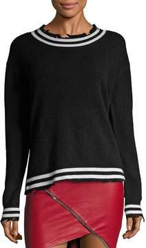 RtA Women's Charlotte Distressed Cashmere Sweater