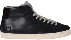 D.A.T.E Dark Blue Hill High Sneakers
