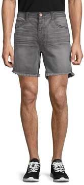 One Teaspoon Men's Phantome Frayed Cuff Denim Shorts