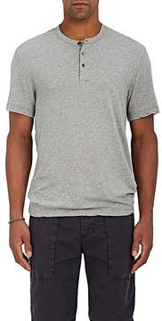 James Perse Men's Heathered Cotton Jersey Henley