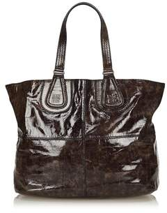 Givenchy Pre-owned: Patent Nightingale Tote.