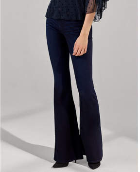 Express mid rise stretch+supersoft bell flare jeans