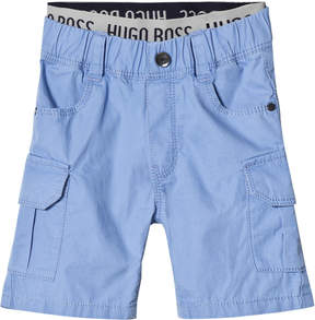 BOSS Pale Blue Cargo Shorts with Branded Waistband