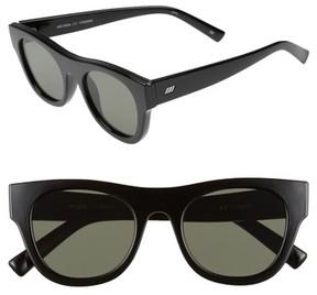 Le Specs Women's Arcadia 49Mm Sunglasses - Black