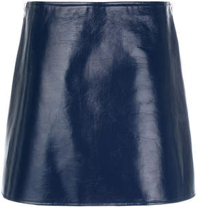Courreges leather effect mini skirt