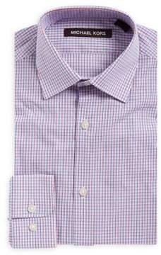 Michael Kors Boy's Checkered Cotton Dress Shirt