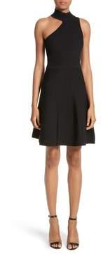 Cushnie et Ochs Vika One-Shoulder Knit Flare Dress