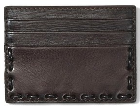 John Varvatos Men's Leather Card Case - Brown
