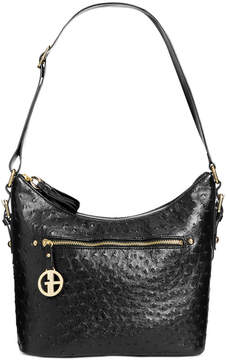Giani Bernini Embossed Faux Ostrich Hobo, Created for Macy's