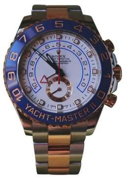 Rolex 116681 Yacht Master II Stainless Steel & Everest Gold Mens Watch
