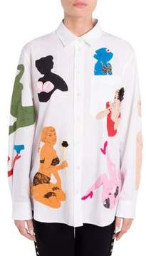 Moschino Pinup Button-Front Shirt
