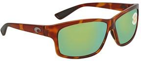 Costa del Mar Cut Green Mirror Rectangular Sunglasses UT 51 OGMP