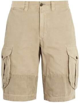Incotex Mid-rise straight-leg cotton cargo shorts