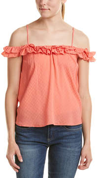 Do & Be DO+BE Do+Be Cold-Shoulder Ruffle Top