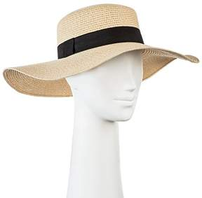Merona Women's Floppy Straw Flat Top Hat - Tan