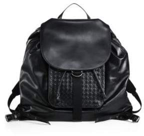 Bottega Veneta Leather Drawstring Backpack