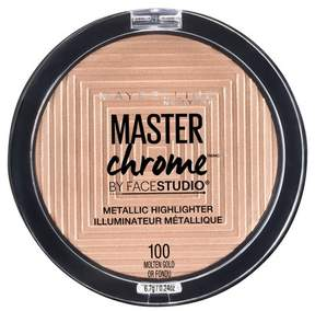 Maybelline FACESTUDIO Master Chrome Metallic Highlighter 100 Molten Gold - 0.24oz