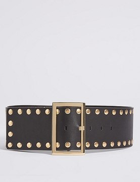 Marks and Spencer Faux Leather Stud Waist Belt