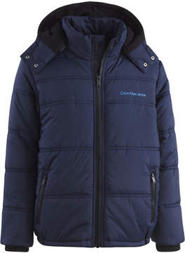 Calvin Klein Eclipse Hooded Puffer Jacket, Little Boys (4-7)