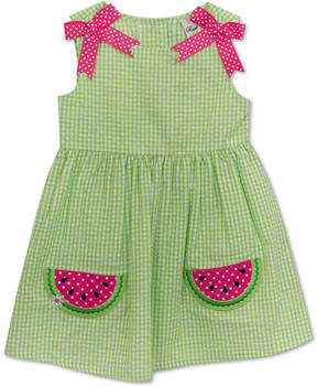Rare Editions Watermelon Seersucker Dress, Baby Girls