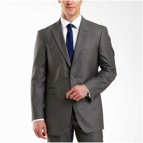 Jf J.Ferrar JF 2-Button Gray Sharkskin Suit Jacket - Classic