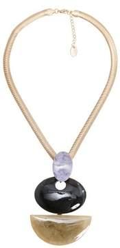 Violeta BY MANGO Stones pendant necklace