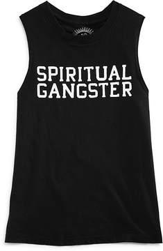 Spiritual Gangster Girls' Varsity Muscle Tank - Little Kid
